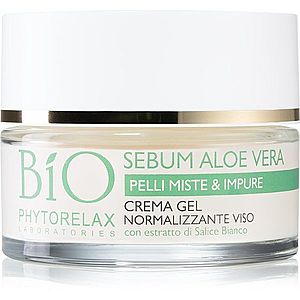 Phytorelax Laboratories Bio Sebum Aloe Vera hydratační gel krém na redukci mastnoty pleti 50 ml obraz