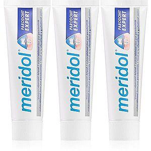 Meridol Parodont Expert zubní pasta proti krvácení dásní a parodontóze 3 x 75 ml obraz
