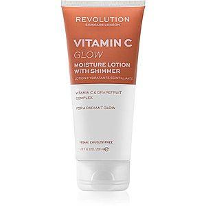 Revolution Skincare Body Vitamin C (Glow) rozjasňující tělové mléko se třpytkami 200 ml obraz