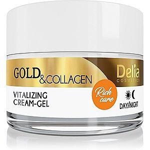 Delia Cosmetics Gold & Collagen Rich Care vitalizující pleťový krém 50 ml obraz