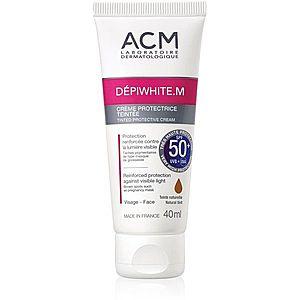 ACM Dépiwhite M tónovací ochranný krém SPF 50+ Natural Tint 40 ml obraz