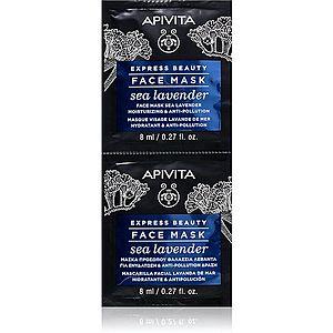 Apivita Express Beauty Sea Lavender pleťová maska s hydratačním účinkem 2 x 8 ml obraz