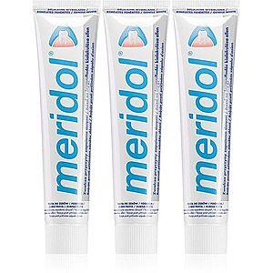 Meridol Gentle White zubní pasta proti krvácení dásní a parodontóze 3 x 75 ml obraz