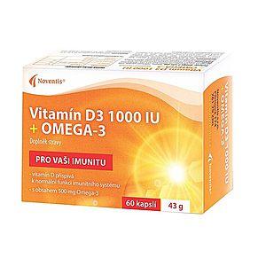 Noventis Vitamín D3 1000 IU + Omega-3 60 kapslí obraz