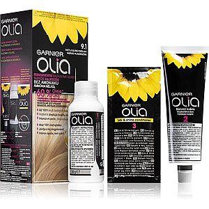 Garnier Olia barva na vlasy odstín 9.1 Ashy Light Blonde obraz