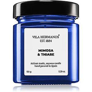 Vila Hermanos Apothecary Cobalt Blue Mimosa & Thiare vonná svíčka 150 g obraz