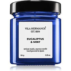 Vila Hermanos Apothecary Cobalt Blue Eucalyptus & Mint vonná svíčka 150 g obraz