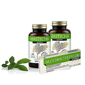 Masticha Terapia Set 2x Masticha Active + test na helikobaktera – pro zdravý žaludek a podporu trávení obraz