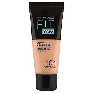 Maybelline Fit me Matte&Poreless make-up 30 ml 104 Soft Ivory obraz