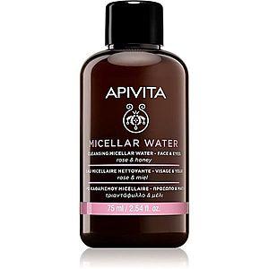 Apivita Cleansing Rose & Honey micelární voda na obličej a oči 75 ml obraz
