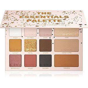 Sigma Beauty The Essentials Palette paleta očních stínů s bronzerem 19, 2 g obraz