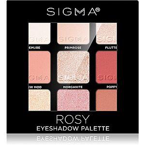 Sigma Beauty Eyeshadow Palette Rosy paleta očních stínů 9 g obraz