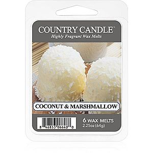 Country Candle Coconut & Marshmallow vosk do aromalampy 64 g obraz