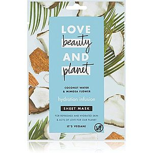 Love Beauty & Planet Hydration Infusion Coconut Water & Mimosa Flower plátýnková maska pro intenzivní hydrataci pleti 21 ml obraz