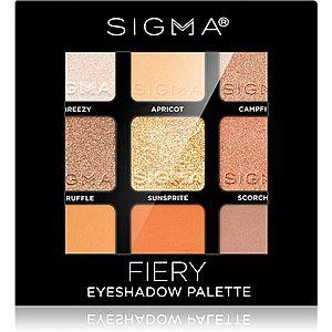 Sigma Beauty Eyeshadow Palette Fiery paleta očních stínů 9 g obraz