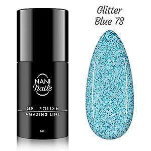 NANI gel lak Amazing Line 5 ml - Glitter Blue obraz