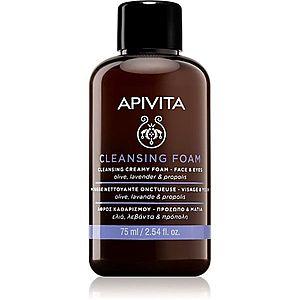 Apivita Cleansing Olive & Lavender čisticí pěna na obličej a oči 75 ml obraz