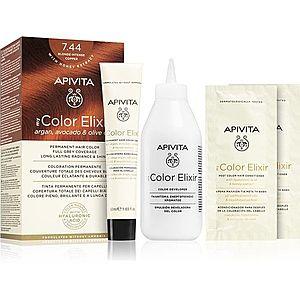 Apivita My Color Elixir barva na vlasy bez amoniaku odstín 7.44 Blonde Intense Copper obraz