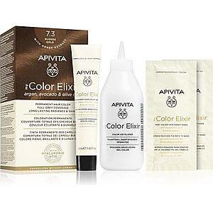 Apivita My Color Elixir barva na vlasy bez amoniaku odstín 7.3 Blonde Gold obraz