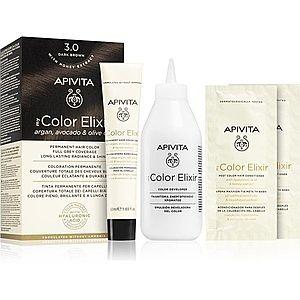 Apivita My Color Elixir barva na vlasy bez amoniaku odstín 3.0 Dark Brown obraz