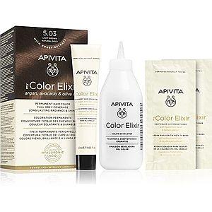 Apivita My Color Elixir barva na vlasy bez amoniaku odstín 5.03 Light Brown Natural Gold obraz