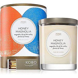 KOBO Natural Math Honey Magnolia vonná svíčka 312 g obraz