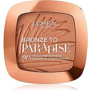 L'Oréal Paris Bronze To Paradise bronzer odstín 02 Baby One More Tan 9 g obraz