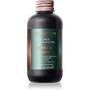 Revolution Haircare Tones For Brunettes tónovací balzám pro hnědé odstíny vlasů odstín Green Envy 150 ml obraz