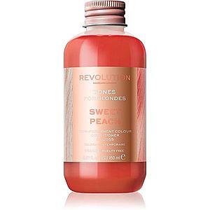 Revolution Haircare Tones For Blondes tónovací balzám pro blond vlasy odstín Sweet Peach 150 ml obraz