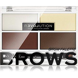 Revolution Relove Colour Cult paleta pro líčení obočí odstín Dark 3, 2 g obraz