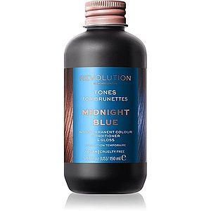Revolution Haircare Tones For Brunettes tónovací balzám pro hnědé odstíny vlasů odstín Midnight Blue 150 ml obraz