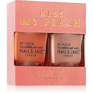 Nails Inc. Kiss my peach výhodné balení (na nehty) obraz