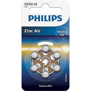 Philips ZA312B6A/00 baterie do naslouchadel 6 ks obraz