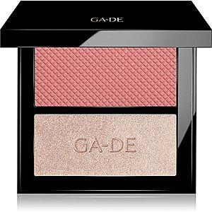 GA-DE Velveteen Blush and Shimmer Duet paletka na tvář odstín 52 Bloom And Glow 7.4 g obraz