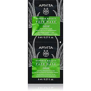 Apivita Express Beauty Aloe osvěžující hydratační maska na obličej 2x8 ml obraz