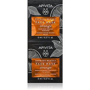 Apivita Express Beauty Orange rozjasňující maska na obličej 2x8 ml obraz