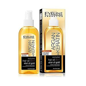 Eveline Argan Keratin vlasový olej 150 ml obraz