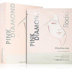 Rodial Pink Diamond Lifting Face Mask liftingová plátýnková maska 4x20 g obraz