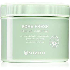 Mizon Pore Fresh oboustranné peelingové a tonizující tamponky s nízkým pH pro citlivou pleť 60 ks obraz