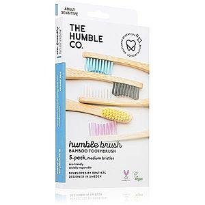 The Humble Co. Brush Adult bambusový zubní kartáček medium I. 5 ks obraz