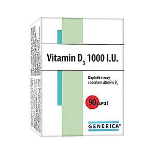 Generica Vitamin D3 1000 I.U. 90 kapslí obraz