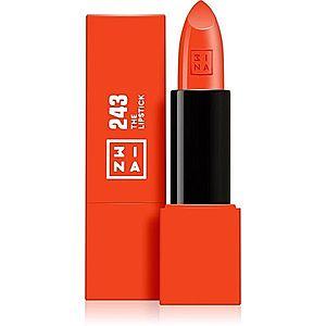 3INA The Lipstick rtěnka odstín 243 Shiny Coral Red 4, 5 g obraz